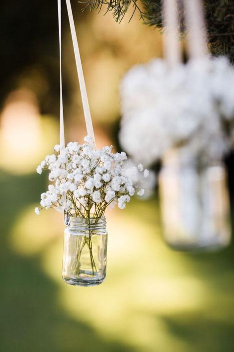 Vasinhos suspensos no casamento