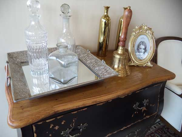 artigos dourados na decoração