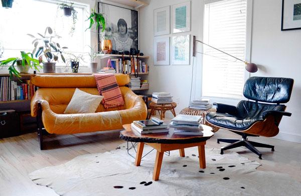 móveis em couro na decoração