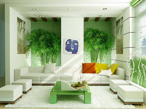 verde na decoração