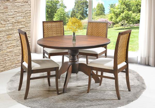 mesa redonda na decoração