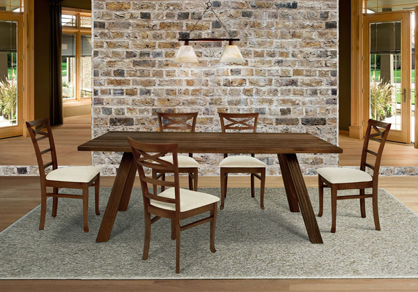 mesa de jantar rústica