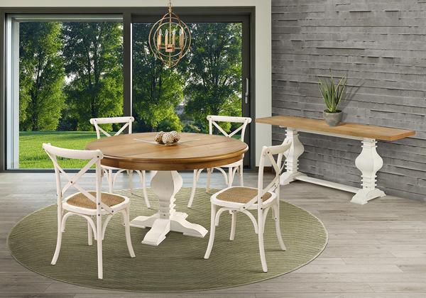 mesa redonda de madeira 120cm