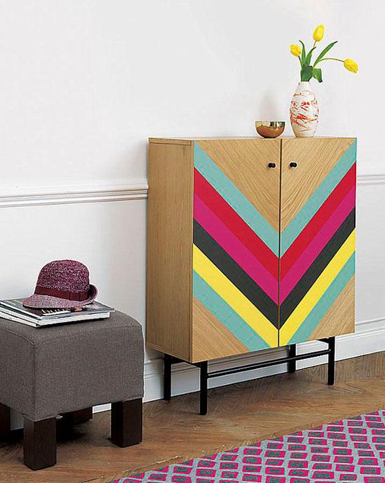 formas geométricas em móveis