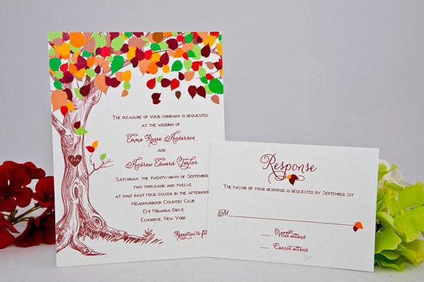 convite colorido para casamento