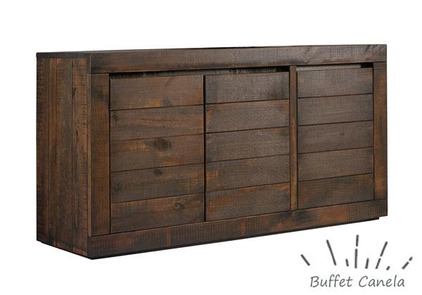 buffet rústico de madeira