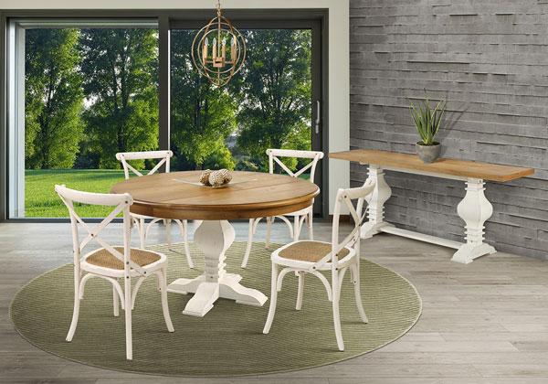 mesa redonda rústica