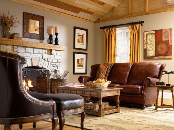 sofa de couro na decoracao