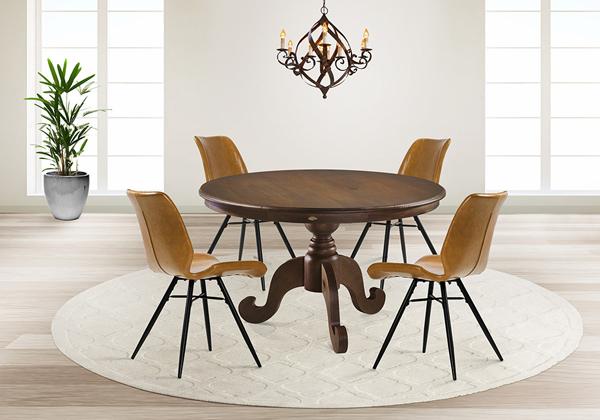 mesa redonda de madeira Tróia