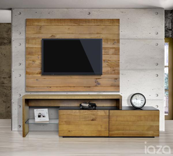 Rack de TV rústico