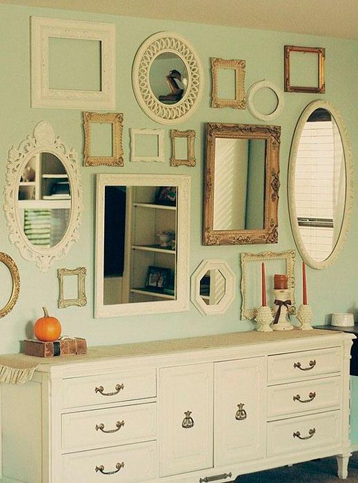 Parede de espelhos