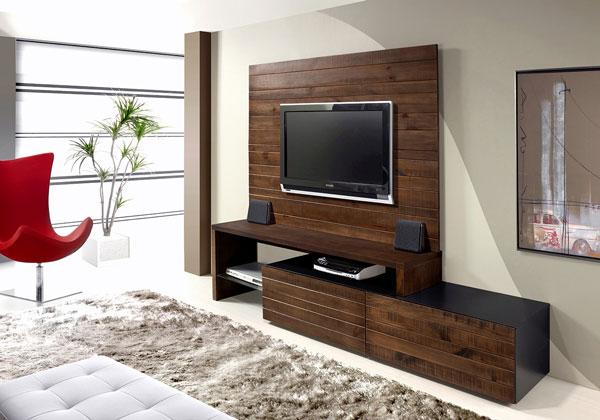 rack para tv de madeira