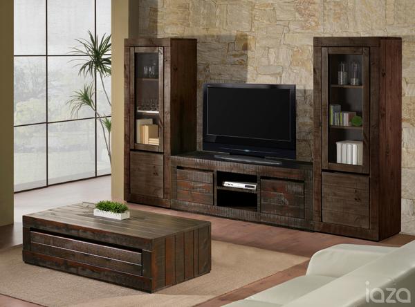 Rack rústico para TV