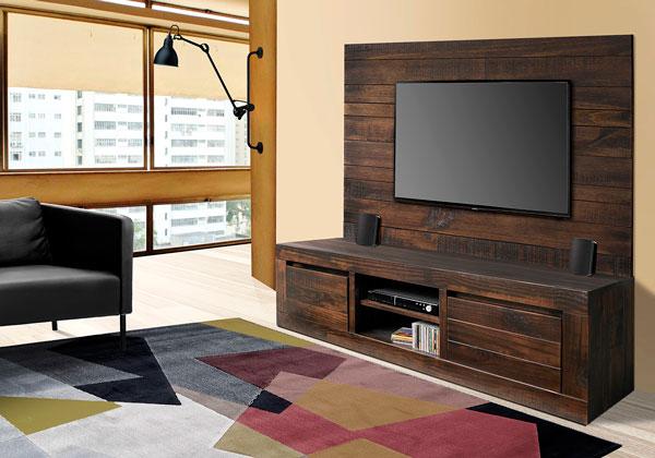 rack para tv rústico