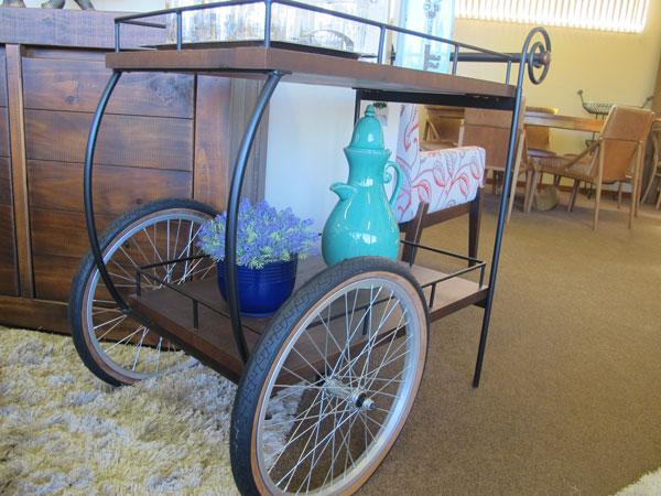 carrinho de chá na decoração