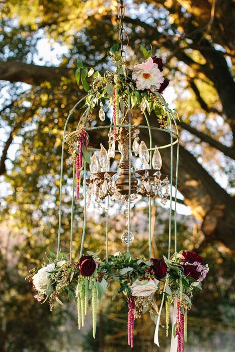 decoração de casamento boho