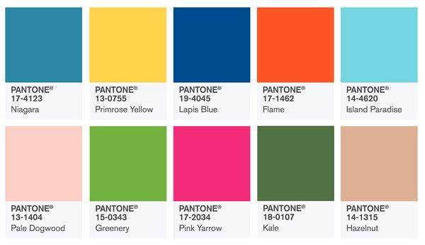 cores da pantone 2017