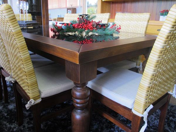 mesa de jantar no natal