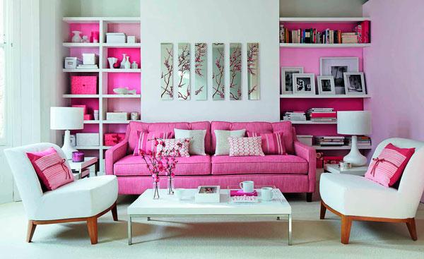 pink na decoração