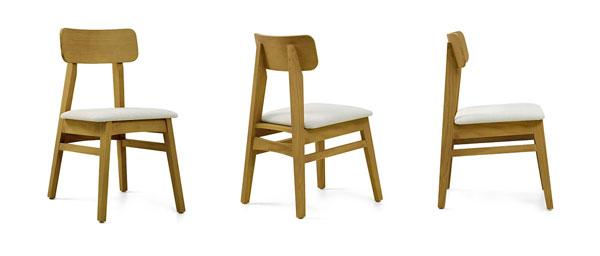 Cadeira estofada Drop - Iaza Móveis de Madeira
