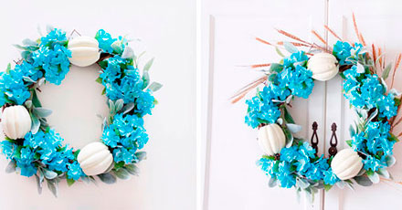 coroa de natal com flores