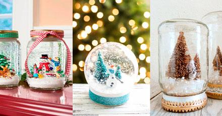 globos de neve no natal