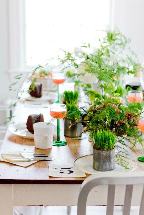 folhagens na decoração