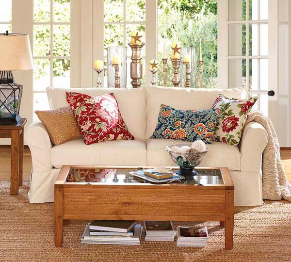 almofadas estampadas na decoração