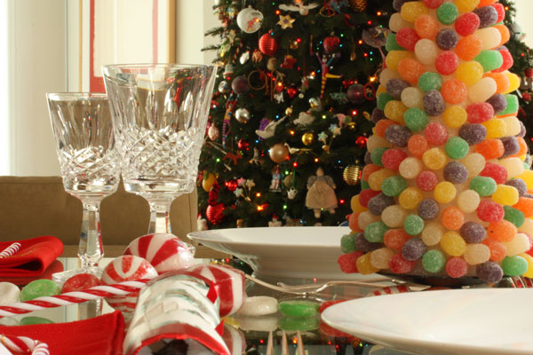 mesa de jantar natalina