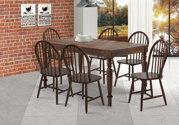 mesa de jantar de madeira maciça