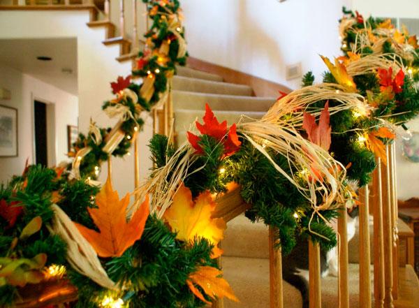 decorando a escada para o natal 2016