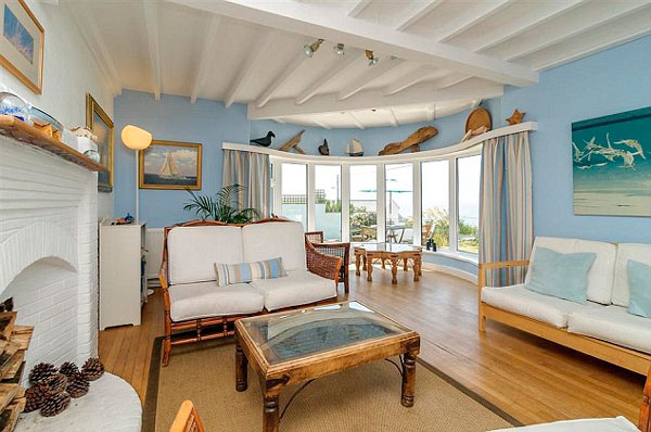 estilo rústico na casa da praia