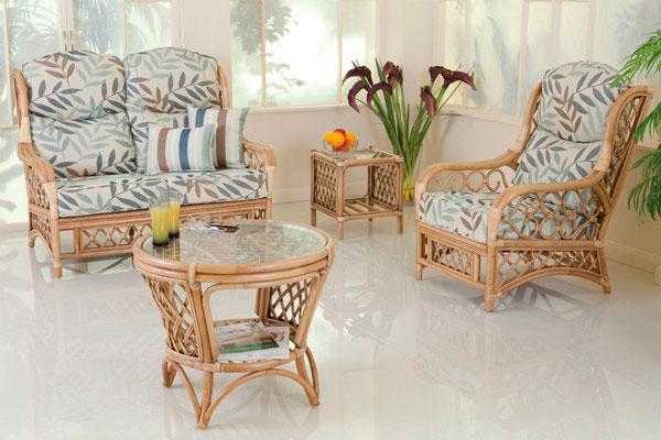 móveis de fibra natural na decoração
