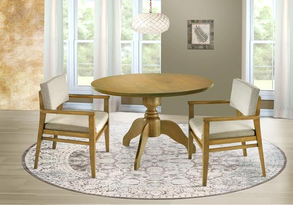 mesa de jantar redonda maciça