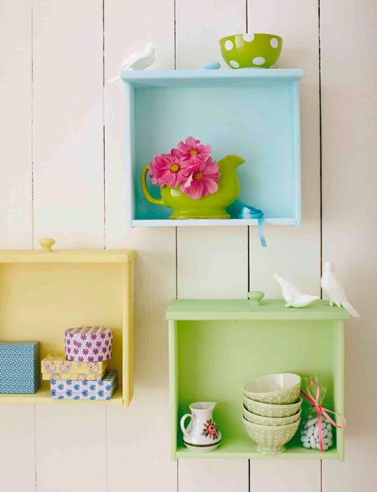 reutilizar gavetas na decoração