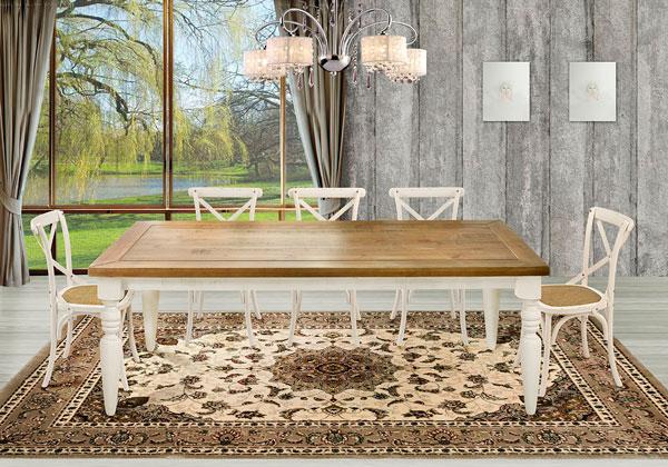mesa com pés torneados brancos