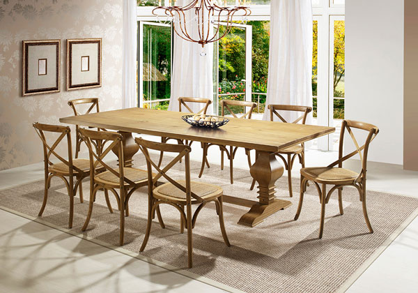 mesa de jantar de madeira Saldão de verão iaza