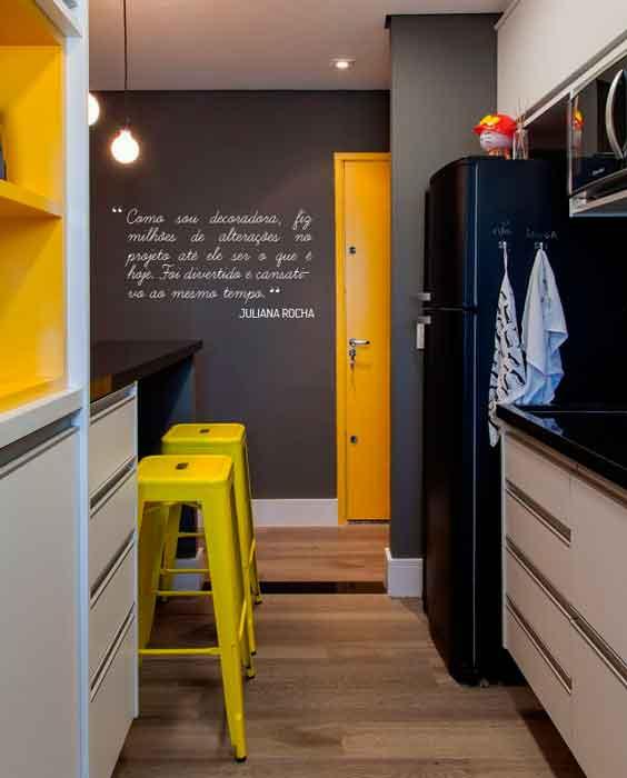 cinza e amarelo na decoração