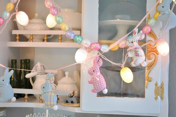Coelhos de páscoa na decoração