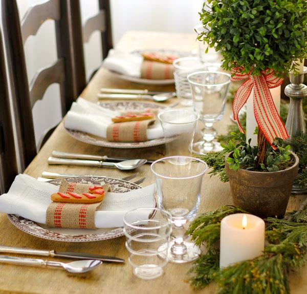 decorar a mesa de jantar