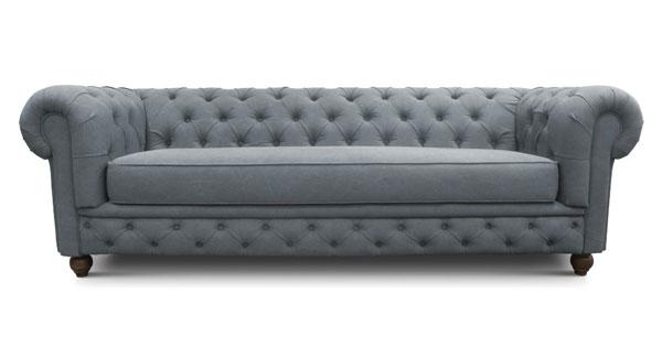 sofá chesterfield cinza escuro
