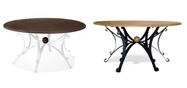 mesa de madeira e ferro