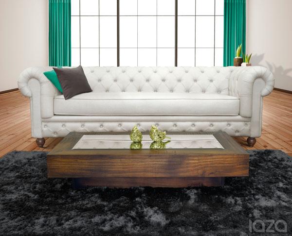 sofá chesterfield branco