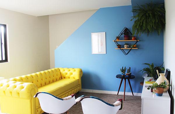 sofá amarelo decoração iaza