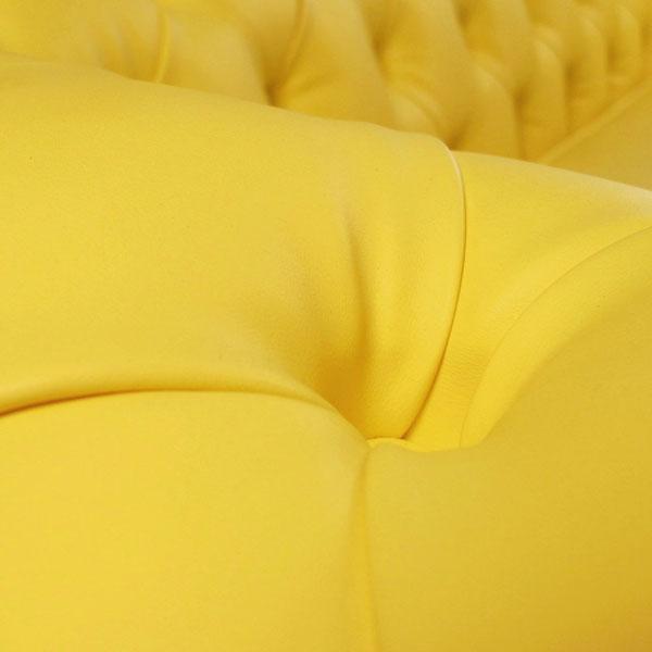 sofá chesterfield mozart amarelo