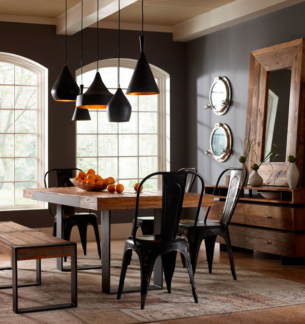 decoração rústica com ferro e madeira