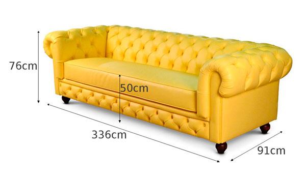 sofá chesterfield amarelo iaza blog
