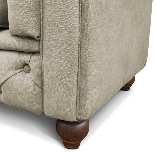 sofá chesterfield veludo iaza