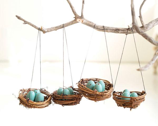 Ninhos na decoração de páscoa