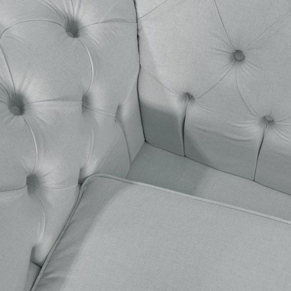 sofá chesterfield cinza